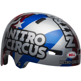 Bell Local Casco, red/silver/blue nitro circus